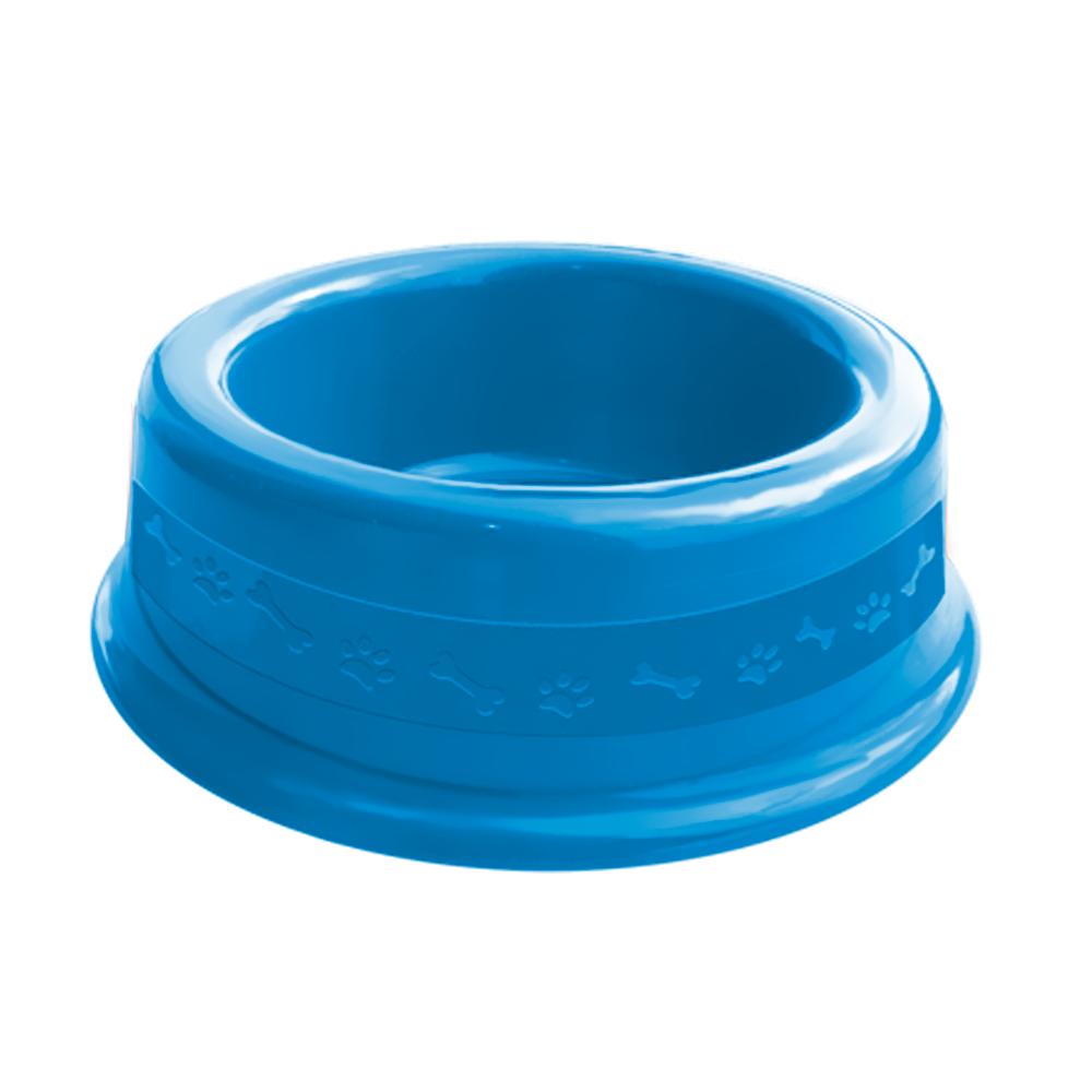 Comedouro plástico para cães e gatos Furacão Pet N1 - 350 ml (azul)