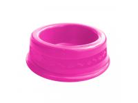 Comedouro plástico para cães e gatos Furacão Pet N1 - 350 ml (rosa)