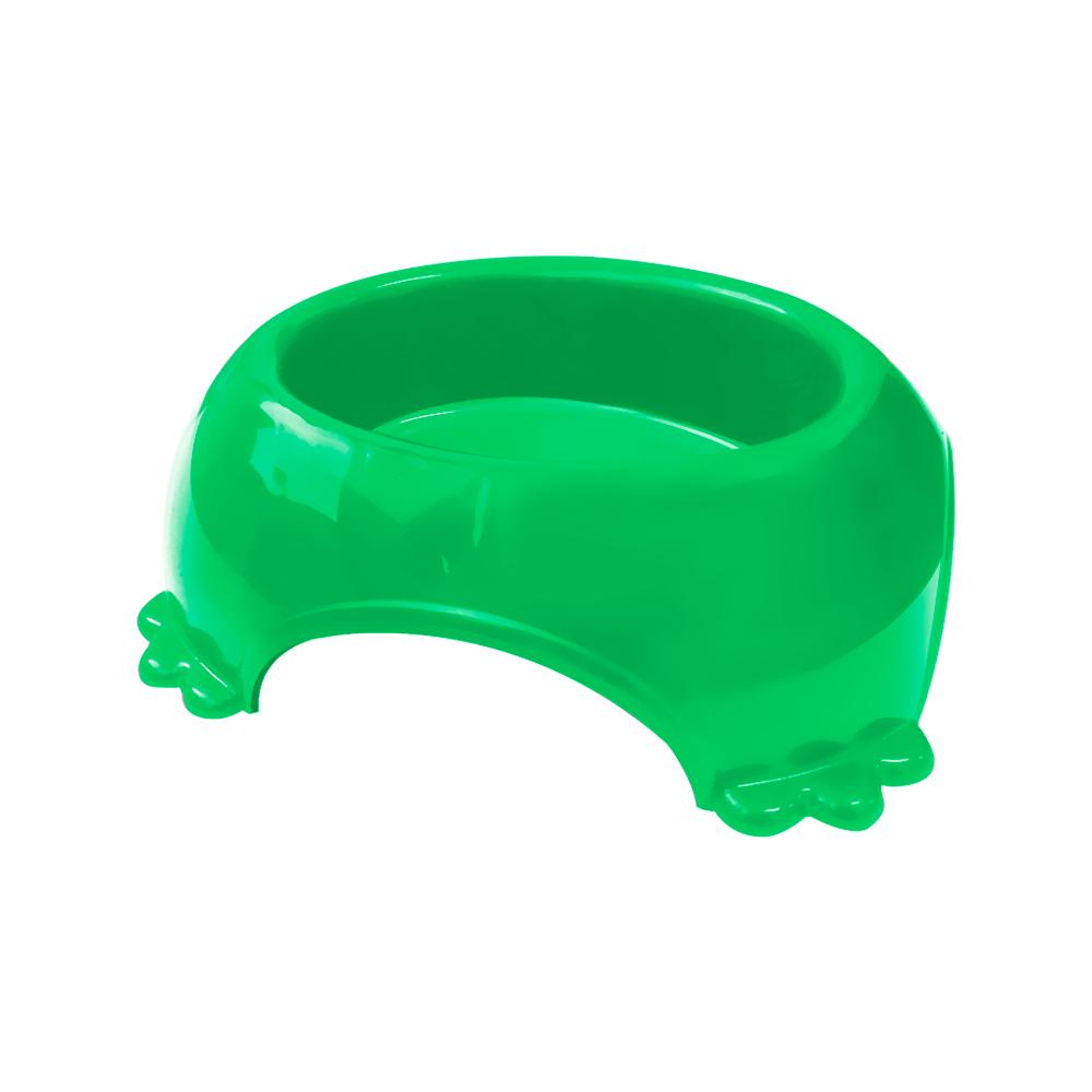 Comedouro plástico para cães e gatos Furacão Pet médio 490 ml (verde)