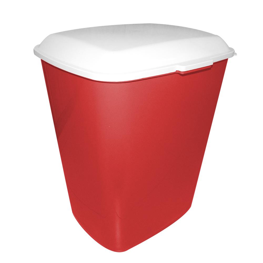 Container para armazenar ração de Cachorro ou Gato Furacão Pet - 20 kg - vermelho