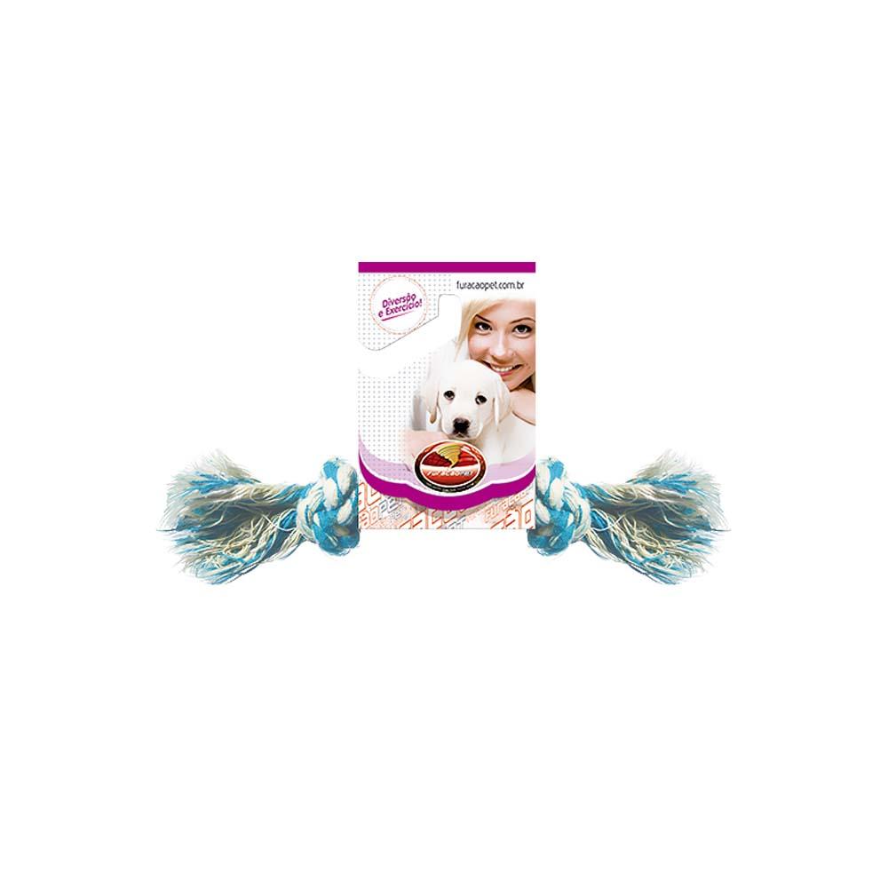 Dental Bone algodão com Nó - brinquedo para Cães Furacão Pet n2 - p