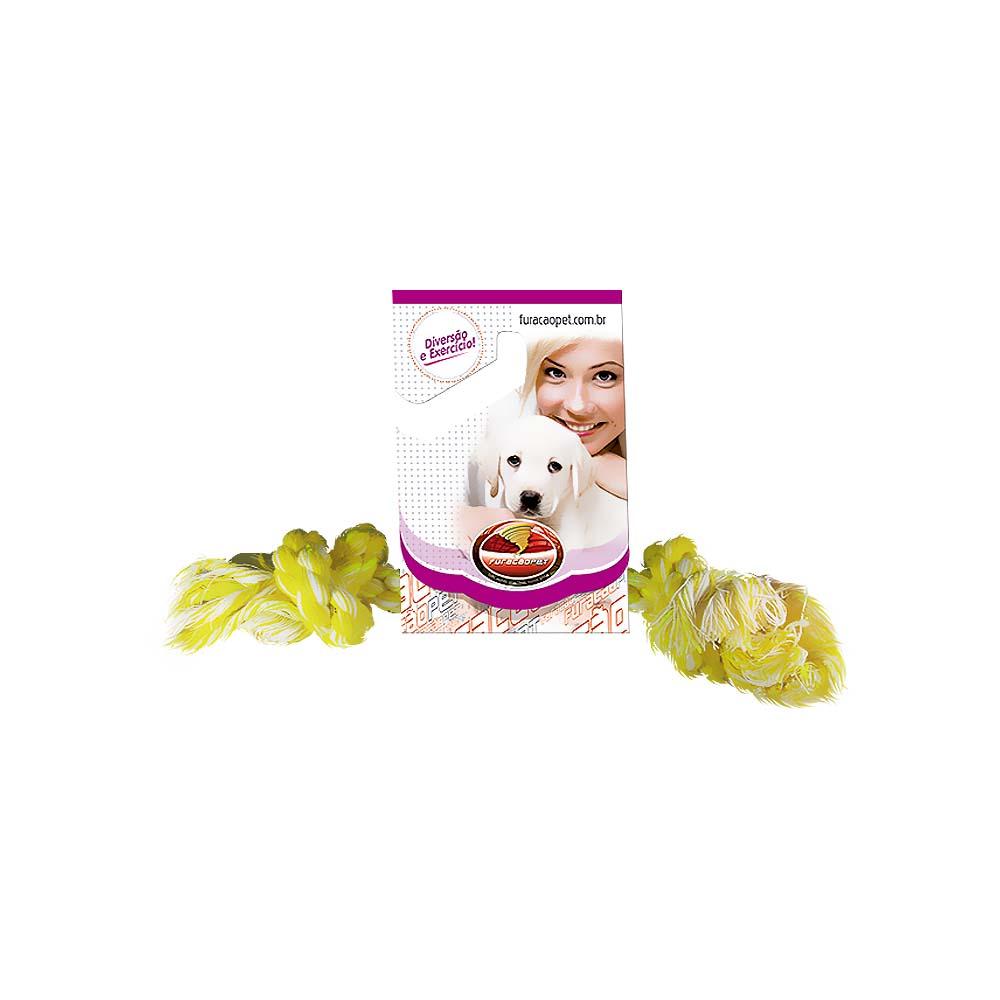 Dental Bone algodão com Nó - brinquedo para Cães Furacão Pet n4 - g