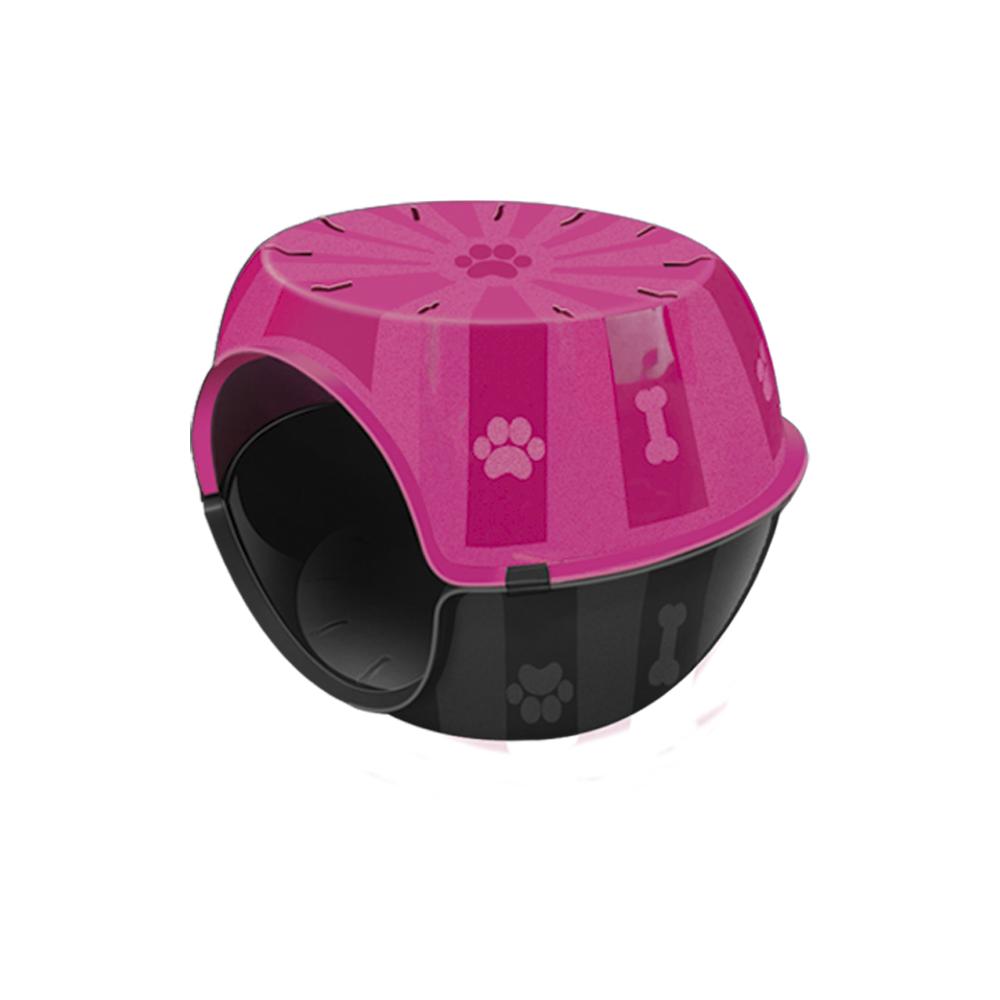 Toca do Gato Paris casinha para Gatos Furacão Pet- rosa