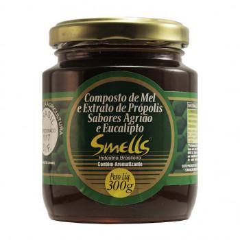 Composto de Mel e Extrato de Própolis Sabores Agrião e Eucalipto Smells - 300g