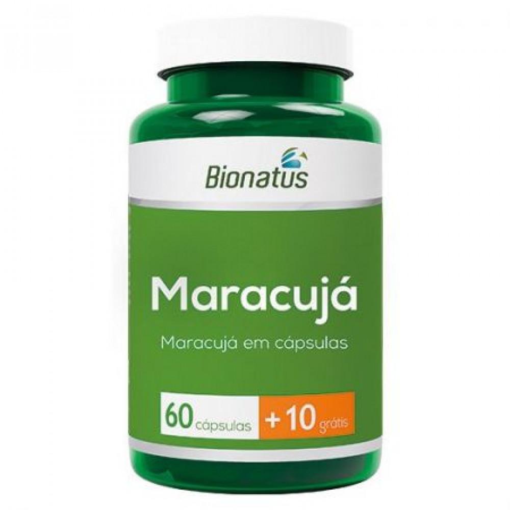 Maracujá em Cápsulas Bionatus - 60 cápsulas 10 grátis