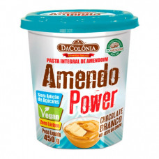 Pasta Integral de Amendoim Sem Adição de Açucar/Zero Lactose/Vegan DaColônia - sabor Chocolate Branco ao Leite de Coco -