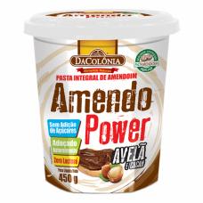 Pasta Integral de Amendoim Sem Adição de Açucar/Zero Lactose DaColônia - sabor Avelã e Cacau - 450G