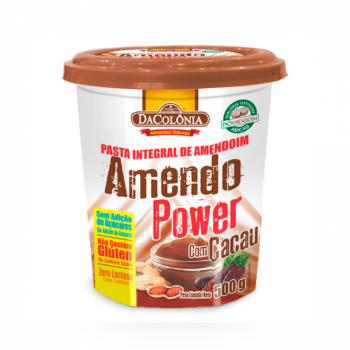 Pasta Integral de Amendoim Sem Adição de Açucar/Zero Lactose DaColônia - sabor com Cacau - 500G
