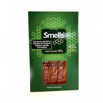 Sachê Mel e Extrato de Própolis Sabores Agrião E Eucalipto Smells - 40g - (10 unidades)