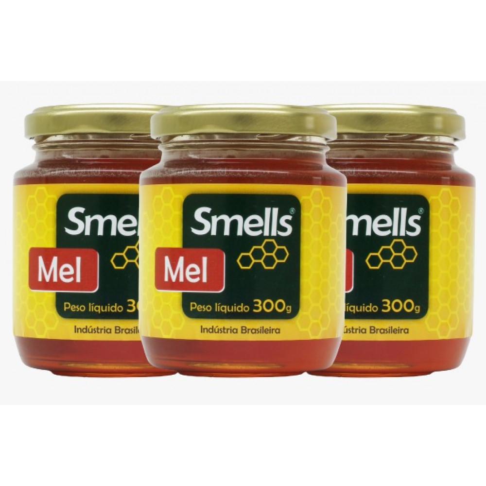 Kit com 3 Potes de Mel Natural Smells - 300g