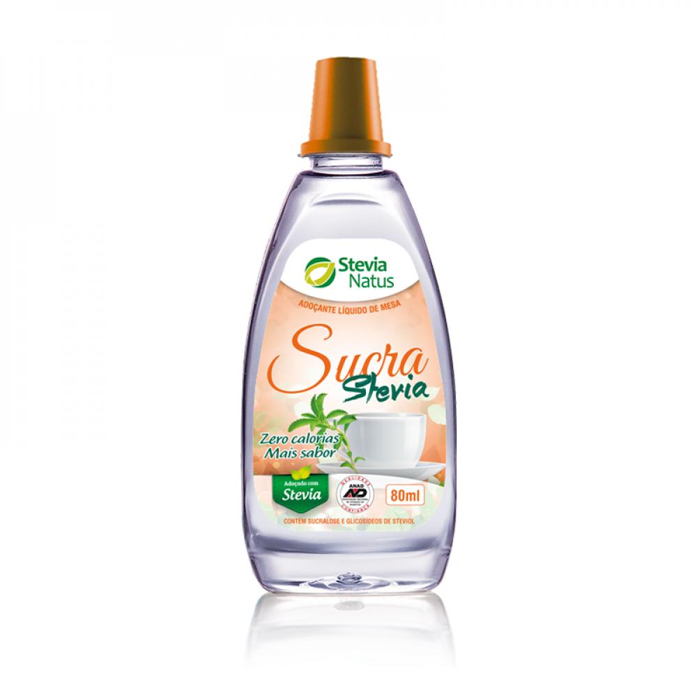Adoçante líquido Sucra com Stevia 80 mL