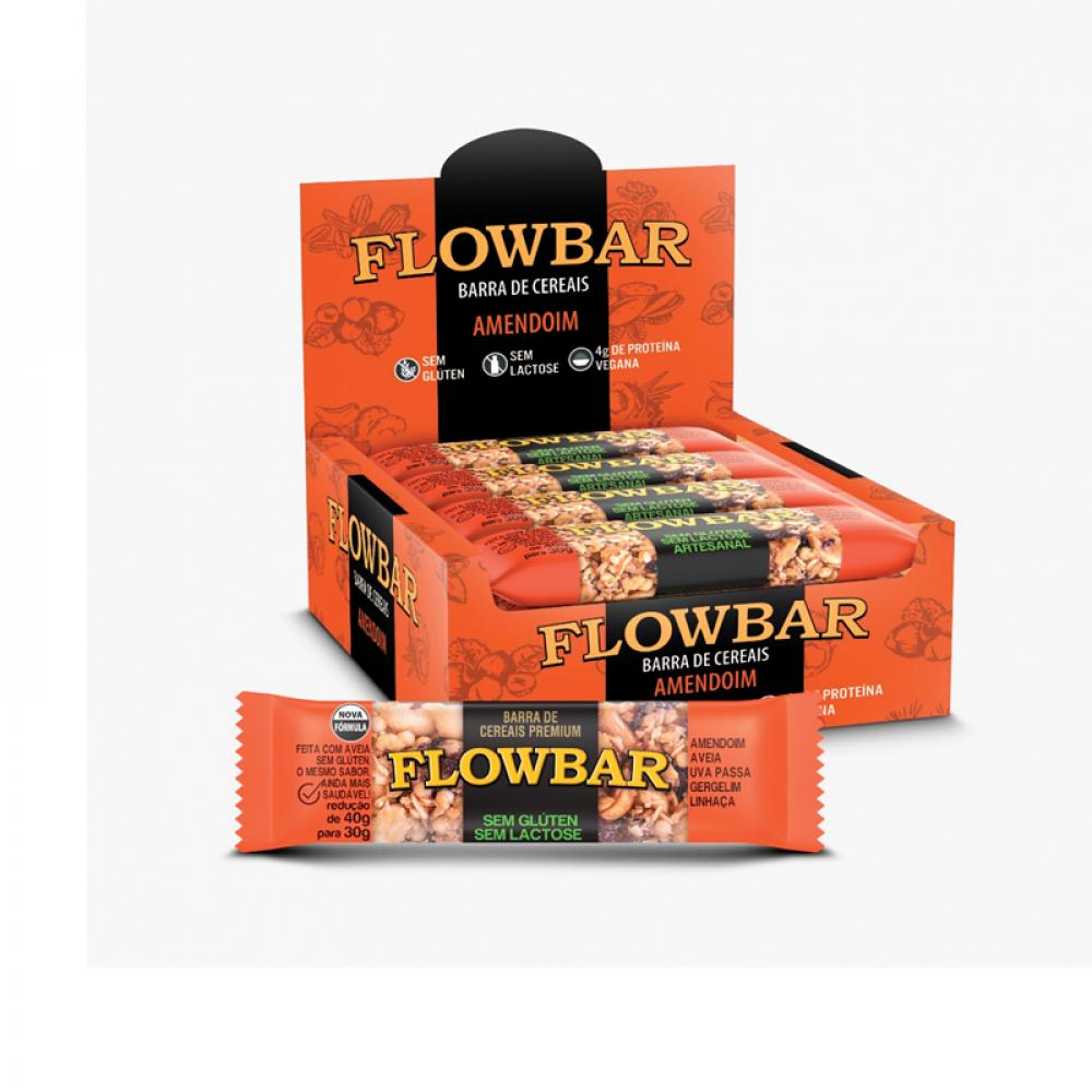 Barra de nuts flowbar amendoim 30g caixa com 12