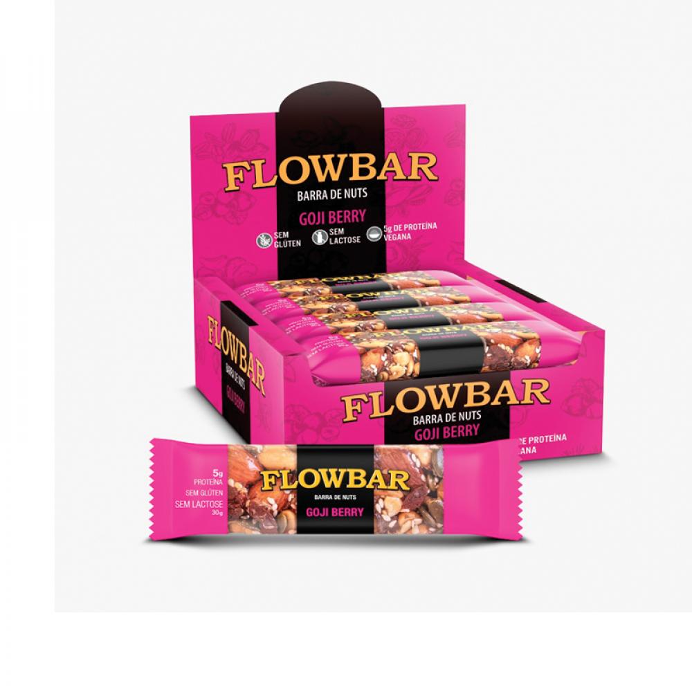 Barra de nuts flowbar goji berry 30g caixa com 12