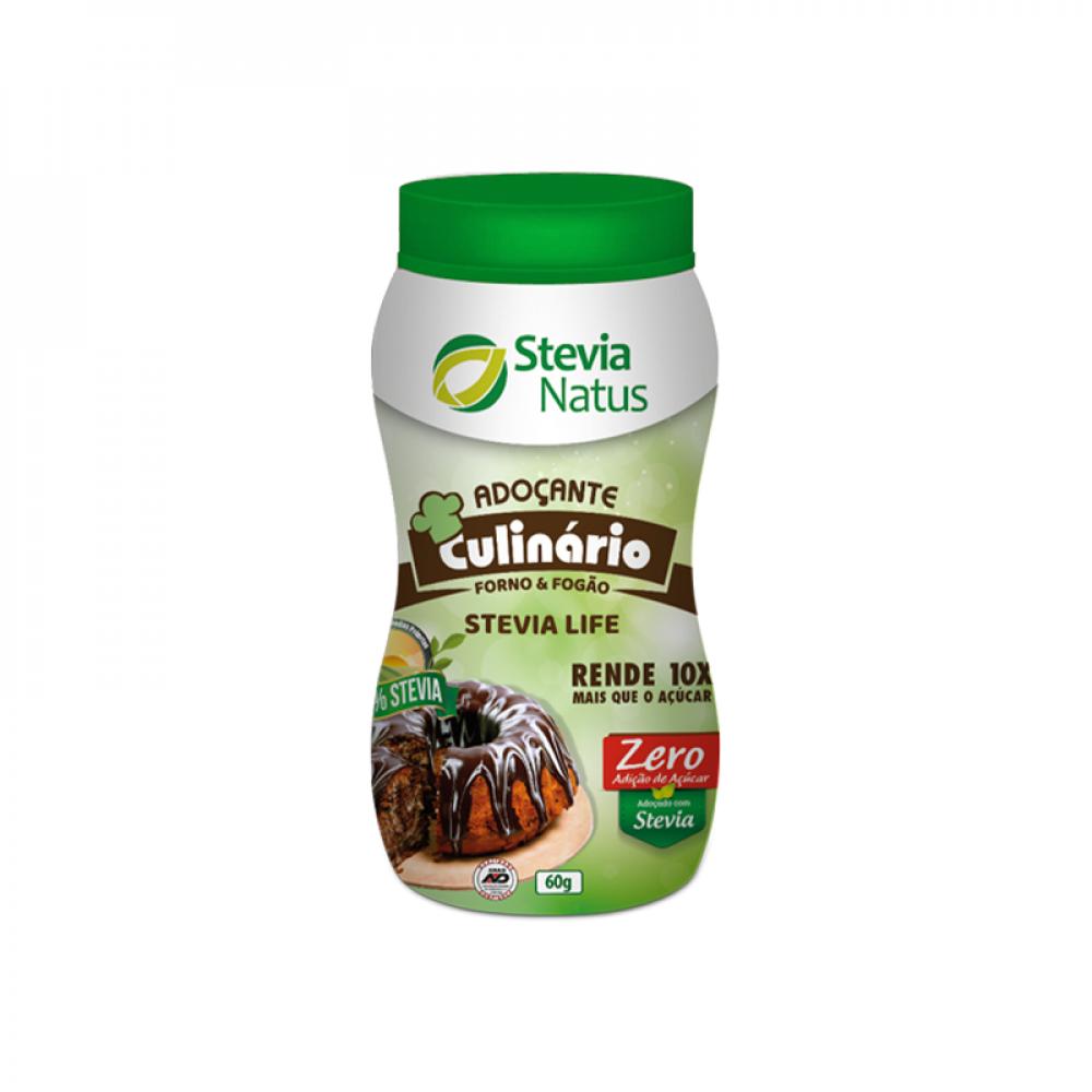 8 Adoçante Culinário Stevia Life pote 60 g
