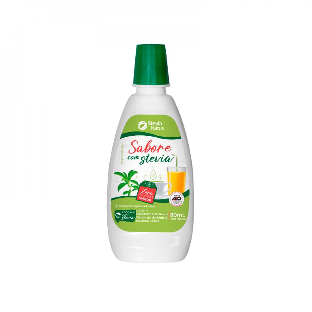 5 Adoçante líquido Sabore com Stevia 80 mL
